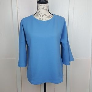 NWT Jones New York Bell 3/4 Sleeve Textured Top